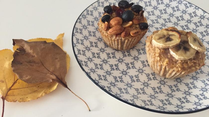 Pequeno-almoço: Muffins de aveia e banana