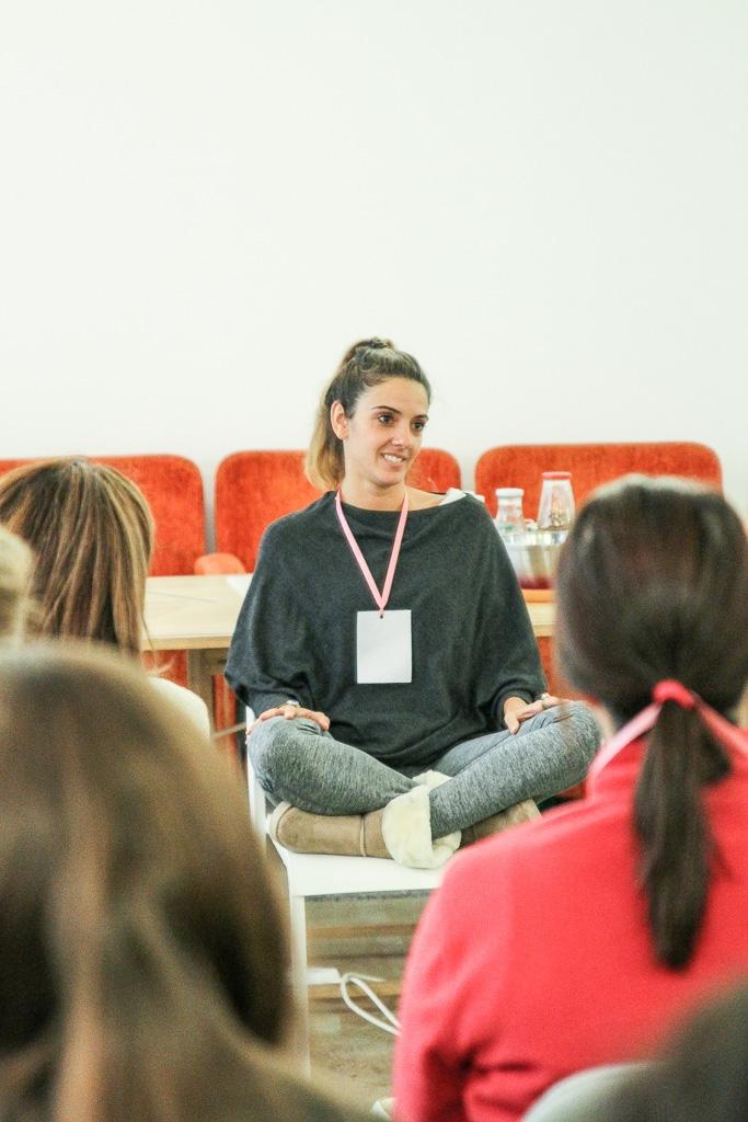 Rute Caldeira e a meditação do evento Blogging for a cause