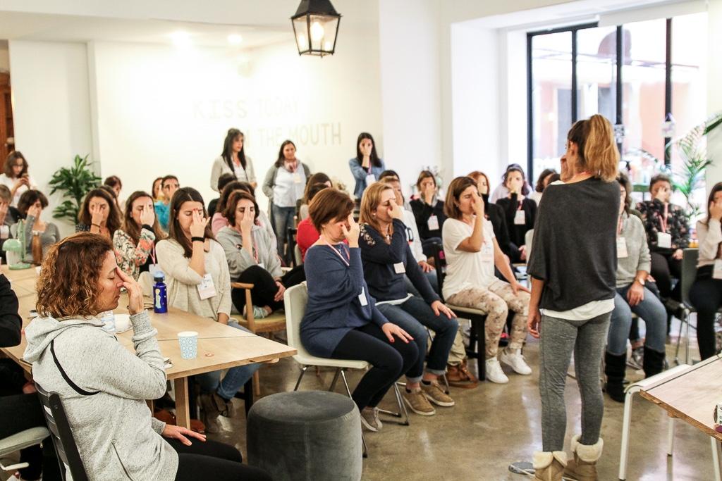 Rute Caldeira e a meditação no evento blogging for a cause