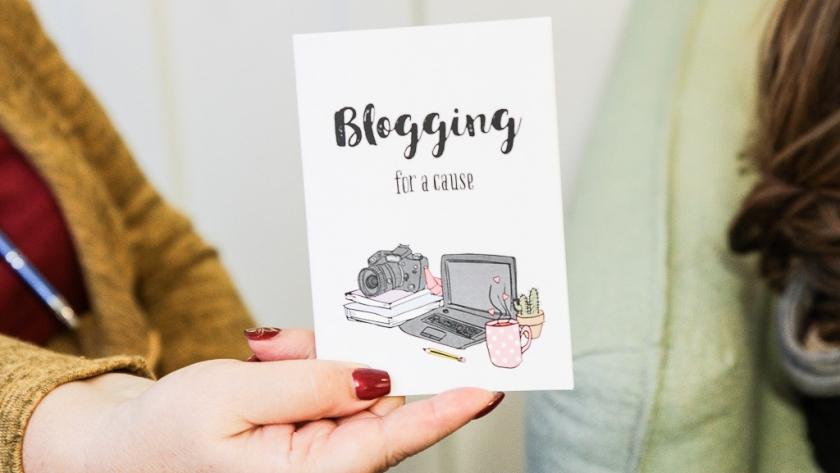Blogging for a cause em 5 palavras