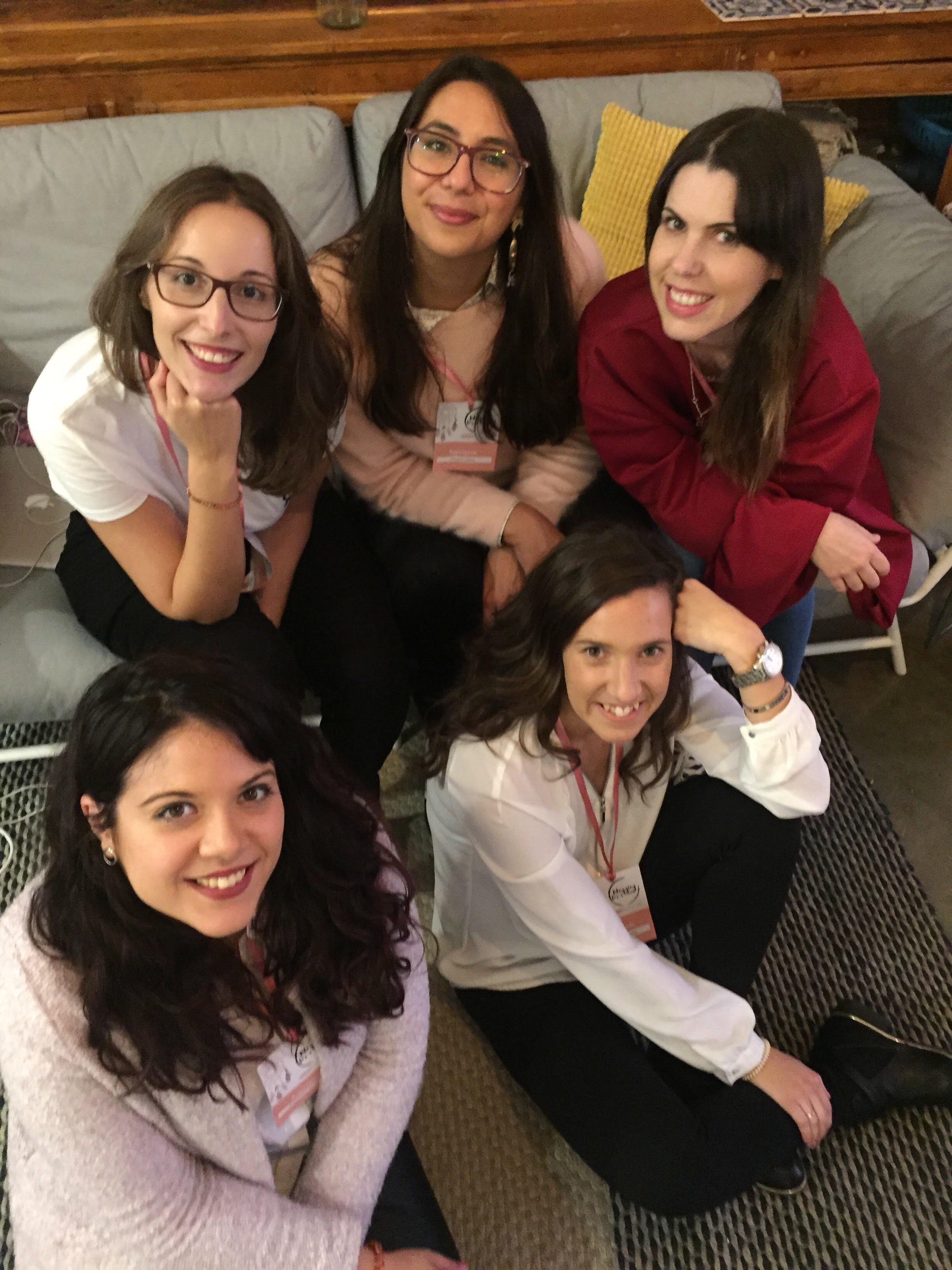 Organizadoras do evento solidário Blogging for a cause