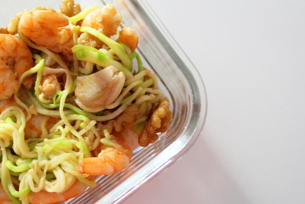 Marmita de courgette com camarão