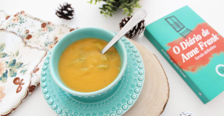 o diário de anne frank e sopa de feijão verde