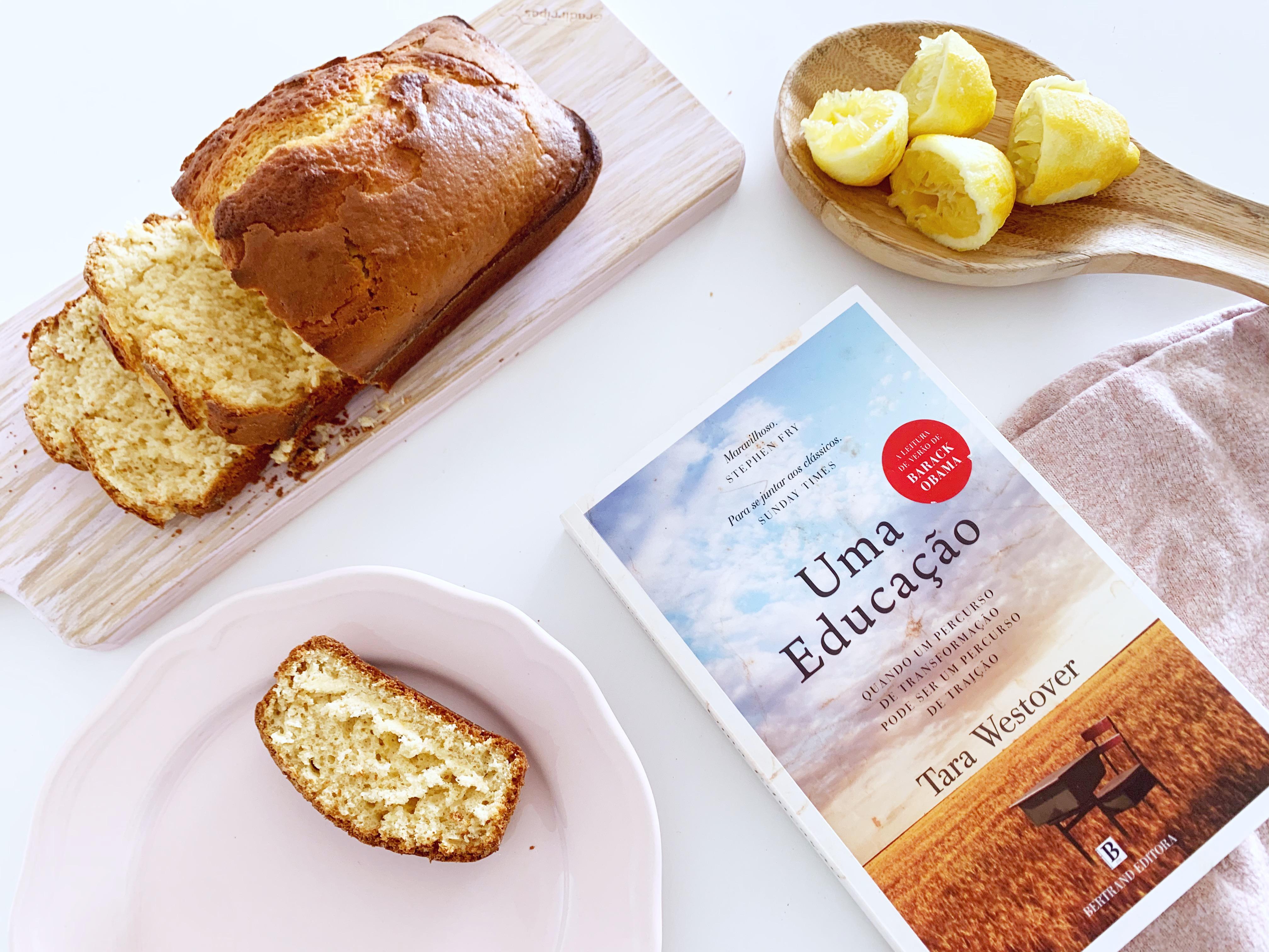 livro uma educação e bolo de limão